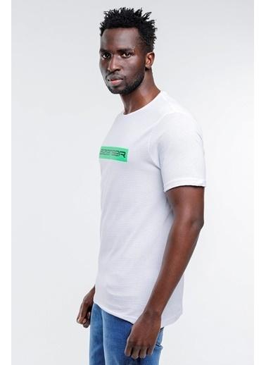 Slazenger Slazenger BATTLE Erkek T-Shirt Pudra Beyaz